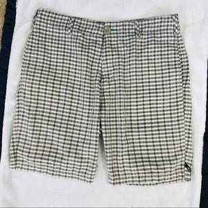 Billabong tan plaid shorts